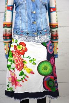 Desigual zdobiona spódnica L XL