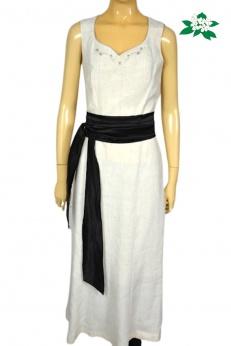 Mode Aus Salzburg  by H.Moser Nowa lniana sukienka midi z haftami M