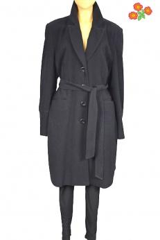 Biaggini wełniany szlafrokowy płaszcz z paskiem XL/XXL