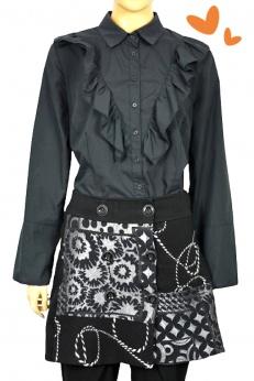 Krótka dzianinowa spódnica w barkowe wzory M