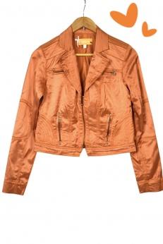 Biba premium oryginalna krótka kurtka ramoneska z zipami S M
