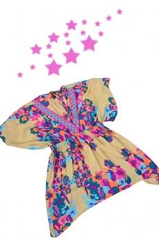 H&M piękna kimonowa bluzka tunika boho S