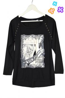 T-shirt z nadrukiem w gotyckim stylu M