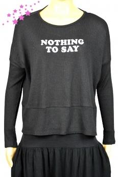 Świetny Sweterek Bluza z napisem Nothing to Say oversize