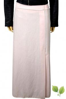 Długa maxi spódnica vintage w kolorze pudrowego różu S M