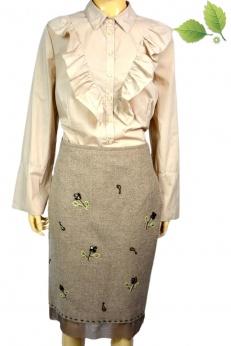 Elegancka Dzianinowa zdobiona spódnica  M