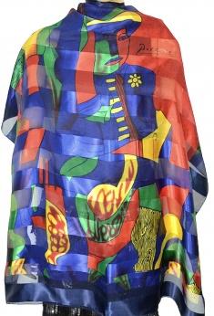 Duża chusta vintage we wzór Picasso