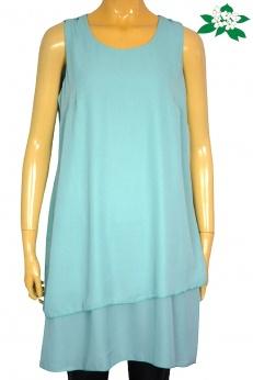 Turkusowa warstwowa sukienka vintage M