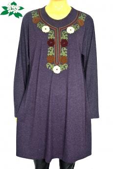 Cudna zdobiona sukienka midi M L XL