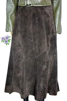 Monsoon skórzana spódnica maxi midi L XL