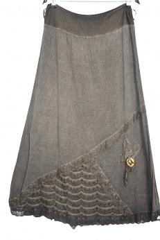Cudna włoska spódnica maxi z koronką M L XL