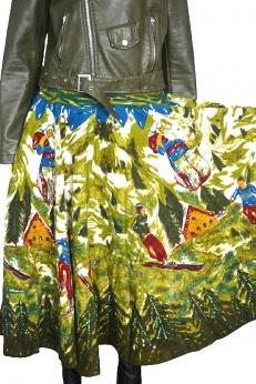Cudna rozkloszowana spódnica w górskie krajobrazy M L