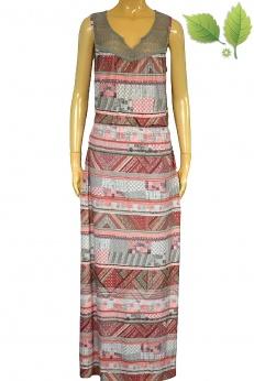 Długa sukienka boho w azteckie wzory M L