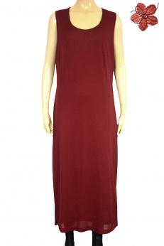 Bordowa sukienka midi vintage M L
