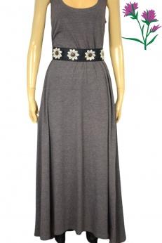 Shirtowa maxi sukienka w kolorze cappucino M L