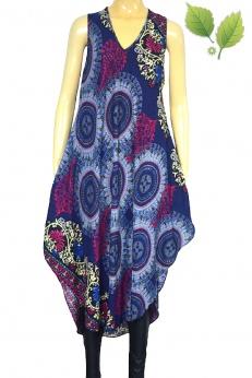 Asymetryczna sukienka bombka z rayonu w mandale M L