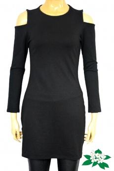 Mango czarna sukienka z odkrytymi ramionami S M