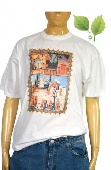 Bawełniany Tshirt Istambuł z nadrukiem L