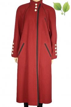 Lodenfrey długi płaszcz z czystej wełny L XL