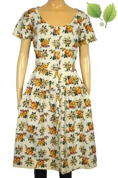 Przepiękna sukienka midi vintage w stylu folk M L