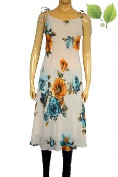 Sukienka midi w kwiaty na regulowanych ramiączkach s m