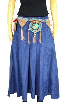 Rozkloszowana spódnica midi w kolorze jeansu S M