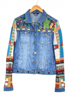 Desigual jeansowa kurtka katana boho gypsy L