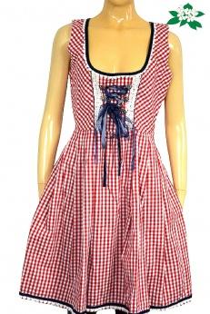 Bawarska rozkloszowana sukienka w kratkę S M