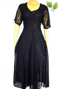 Sukienka vintage w stylu wiktoriańskim z koronką L XL