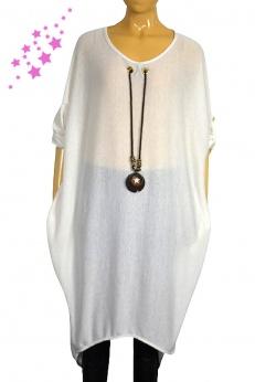 Dzianinowa sukienka bombka z wisiorkiem L XL XXL