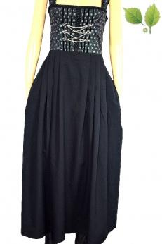 Landhasu długa sukienka vintage z jedwabiem S