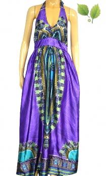 Nowa maxi sukienka afrykańskie wzory dashiki M L