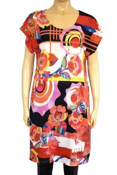 Nowa prosta sukienka midi w stylu lat 70 M
