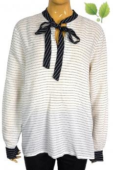 Zara wiskoza koszula z szarfami do wiązania L