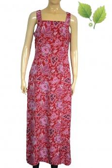Wiskozowa długa sukienka w kwiaty S