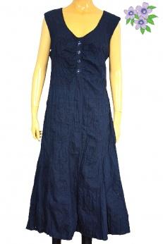 Bonita długa letnia sukienka z marszczonej tkaniny L XL