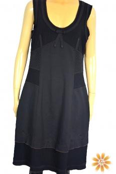 Tuzzi patchworkowa sukienka midi z pikowaniem M