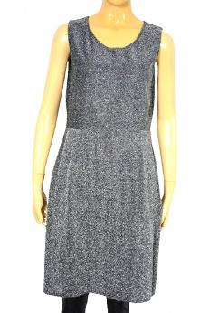 Srebrna połyskująca koktajlowa sukienka vintage S M