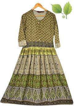 Feather Touch Długa sukienka boho z wiskozy S M