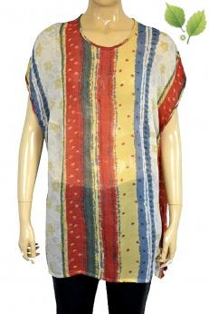 Markwald cienka wzorzysta bluzka vintage z wiskozy w M L XL