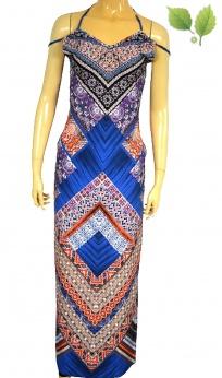 Piękna letnia sukienka boho z rozcięciem XS S