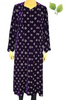 Aksamitna sukienka midi vintage M