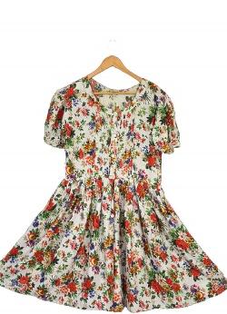 Sukienka midi szmizjerka vintage M L