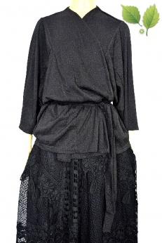 Lindex eleganckie kimono z paskiem oversize
