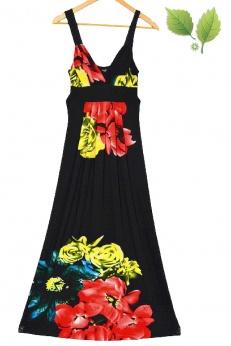 Stella maxi sukienka boho w kwiaty S M