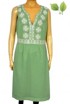 Monsoon pistacjowa biżuteryjna sukienka L
