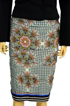 Tessa Koops premium drapowana spódnica midi z lamówką  S M