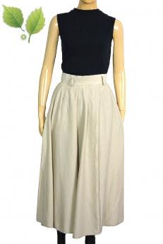 Avance Création beżowa rozkloszowana spódnica midi vintage S