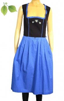 Sukienka midi vintage folk w kwiatowe hafty i groszki M