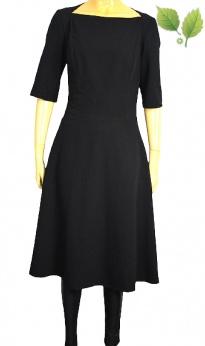 Nife czarna rozkloszowana sukienka midi M